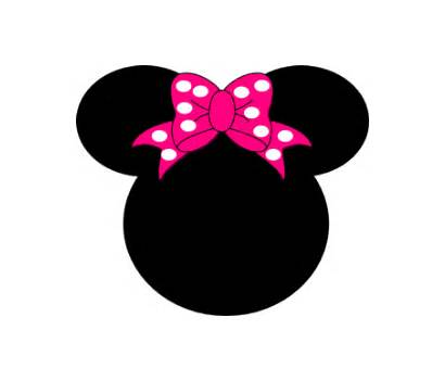 Minnie Mouse Clip Head Vector Clker Clipart