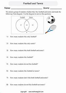 Grade 6 Math Venn Diagram Worksheet  Analyze The Diagram