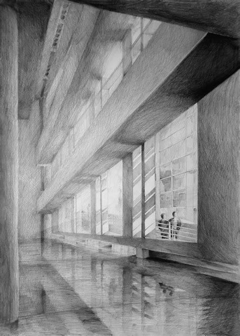 interior  shiny floor created  light pencil
