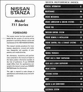 1982 Datsun  Nissan Stanza Repair Shop Manual Original