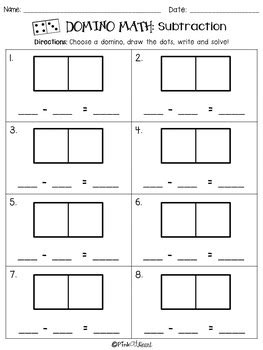 Domino Math Addition And Subtraction Worksheets Freebie By Pink At Heart