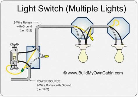 how to wire a switch with multiple lights diy in 2019