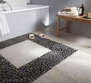 carrelage sol salle de bain castorama peinture faience With carrelage galets salle de bain