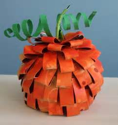 Paper Pumpkin Crafts Pinterest