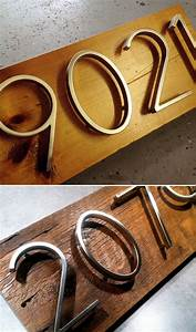 Spicing up your address floating house numbers core77 for Floating house letters