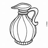 Jug Oil Coloring Clipart Hanukkah Clip Pages Shabbos Holidays Cliparts Waldereducation Library Template sketch template