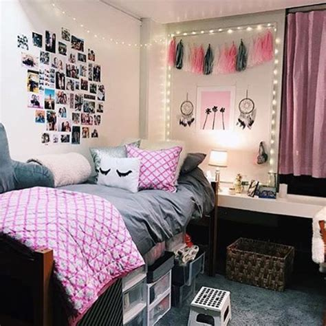 grey  pink ftw dormifycom dorm room designs pink