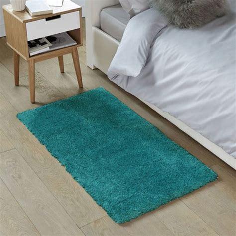 d馗o cocooning chambre tapis shaggy bleu scandinave doux 60x90cm caline petit tapis descente de lit pas cher monbeautapis com