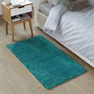 Tapis Bleu Scandinave : tapis shaggy bleu scandinave doux 60x90cm caline petit tapis descente de lit pas cher ~ Teatrodelosmanantiales.com Idées de Décoration