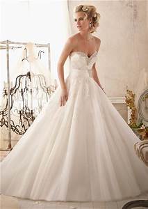 Princess Ball Gown Sweetheart Tulle Lace Beaded Wedding