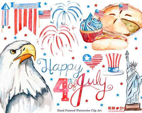 July 4th Clip 4th July Clipart Clipground