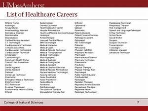 Freshman pre med for List of medical careers