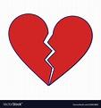 Love broken heart symbol blue lines Royalty Free Vector