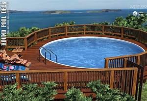 Pool Dach Rund : round pool deck 3d models lilflame ~ Watch28wear.com Haus und Dekorationen