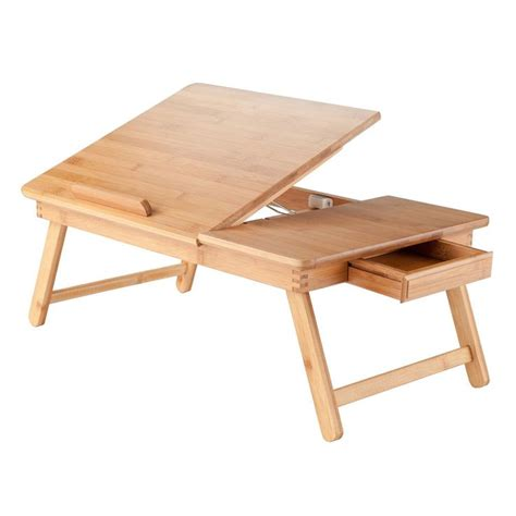 folding lap tray table portable lap desk tray table stand wood adjustable