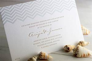 james arija39s modern seaside wedding invitations With chevron letterpress wedding invitations