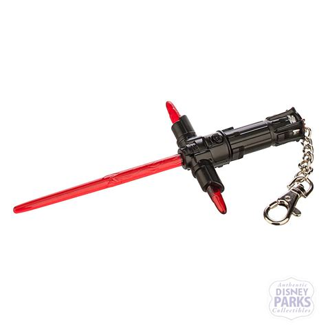 disney parks kylo ren lightsaber keychain light up star wars the force awakens ebay