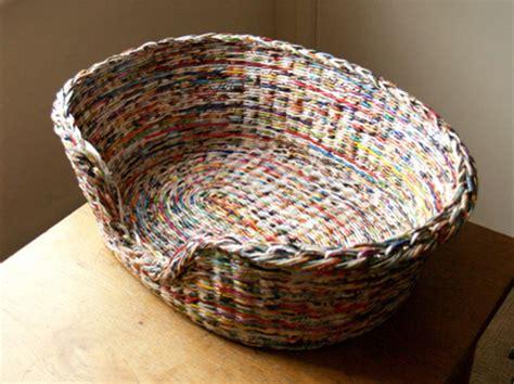 home dzine craft ideas  rolled paper wicker baskets