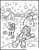 Winter Coloring Pages Season Printable Preschool Kindergarten Worksheets Toddler Crafts sketch template
