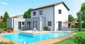 constructeur maison etage r1 en rhone alpes des 157 000 With prix de construction maison