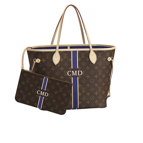 neverfull mm mon monogram monogram personalization louis vuitton louis vuitton louis