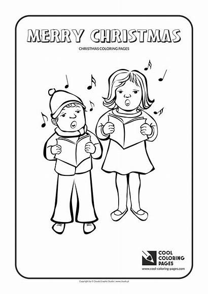 Coloring Christmas Pages Carolers Cool Educational Angel