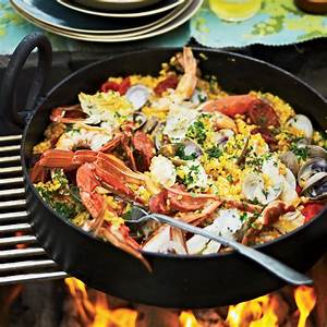 easy grilled paella recipe pete food wine