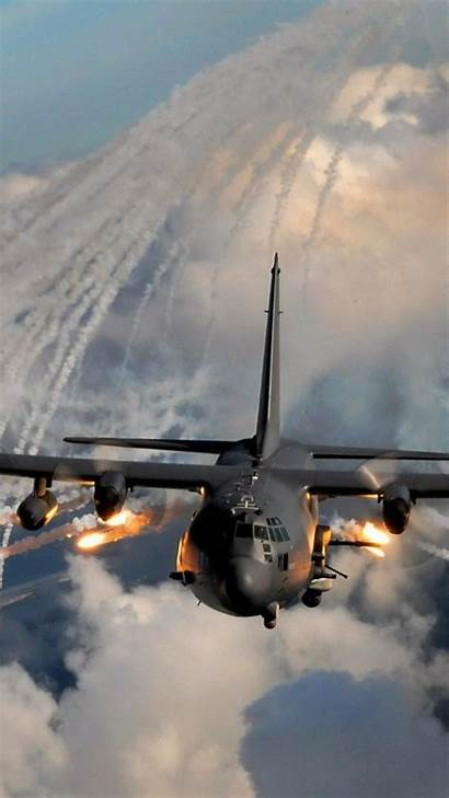 130 Ac Wallpapers Military Flares Aircraft Army