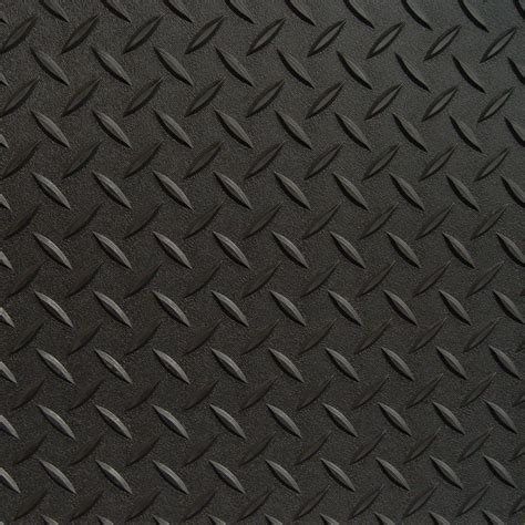 Diamond Deck 3 ft. x 5 ft. Black Textured PVC Door Mat