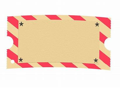 Ticket Template Clipart Carnival Blank Circus Concert