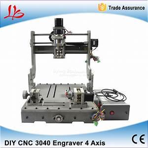 DIY 4 Axis Mini CNC Woodworking Lathe Machine 300W CNC ...