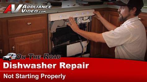 dishwasher repair diagnostic  starting kitchenaid whirlpool maytag sears kudsixbt