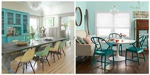 cuisine bleu canard une cuisine et son mur turquoise With meuble cuisine couleur taupe 16 chaise salle a manger bleu canard