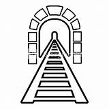 Tunnel Icon Railway Outline Vectorified sketch template