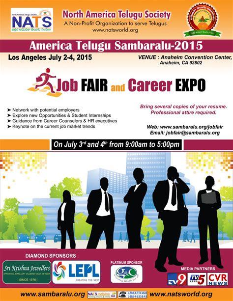 job fair  career expo north america telugu society