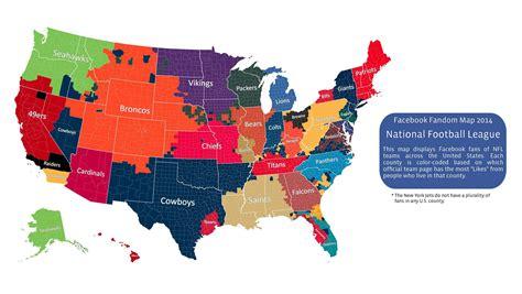 facebook nfl fandom map   surprises myfoxcom