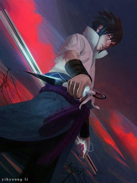 geek art gallery fan art   sasuke uchiha