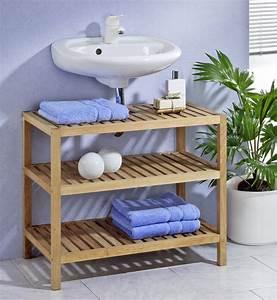 Badezimmer Regal Holz : waschbeckenunterschrank regal badezimmer m bel und wohnen ~ Frokenaadalensverden.com Haus und Dekorationen