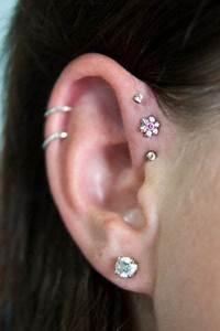 triple forward helix | Tumblr | Earrings | Ear piercings ...