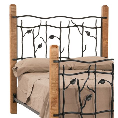 Wrought Iron And Wood King Headboard by Wrought Iron Sassafras Headboard By County Ironworks