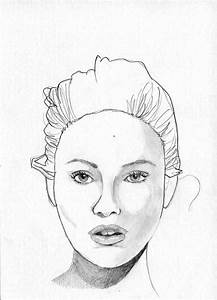 The gallery for --> Woman Face Sketch Outline