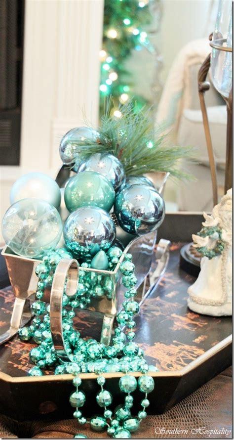 beautiful teal christmas decoration ideas christmas