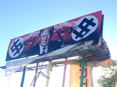 artist refuses    nazi donald trump billboard