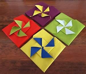Pliage Serviette Moulin A Vent : pliage de serviette de table en forme de pochette avec ailes de moulin r aliser une pochette ~ Melissatoandfro.com Idées de Décoration