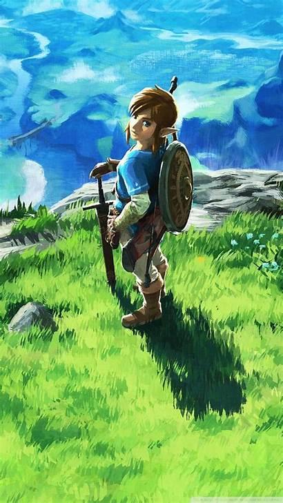 Zelda Phone Breath Wild Legend Wallpapers Backgrounds