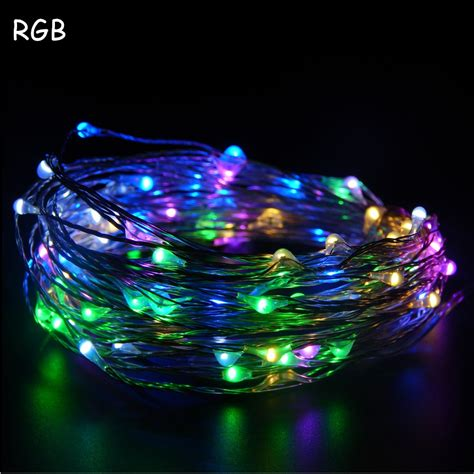 led wire lights 8 colors 10m 33ft 100 led copper wire led string light
