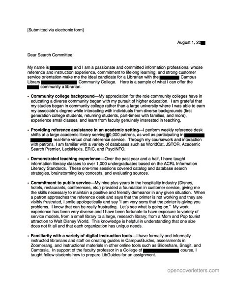 academic open cover letters page 2