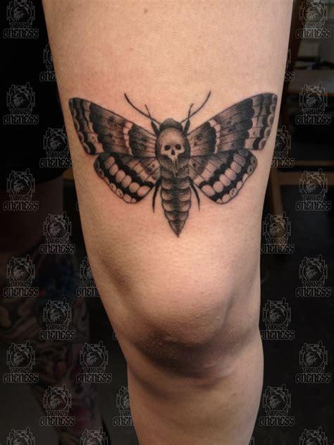 Moth With Skull Leg Tattoo Tattoomagz Designs