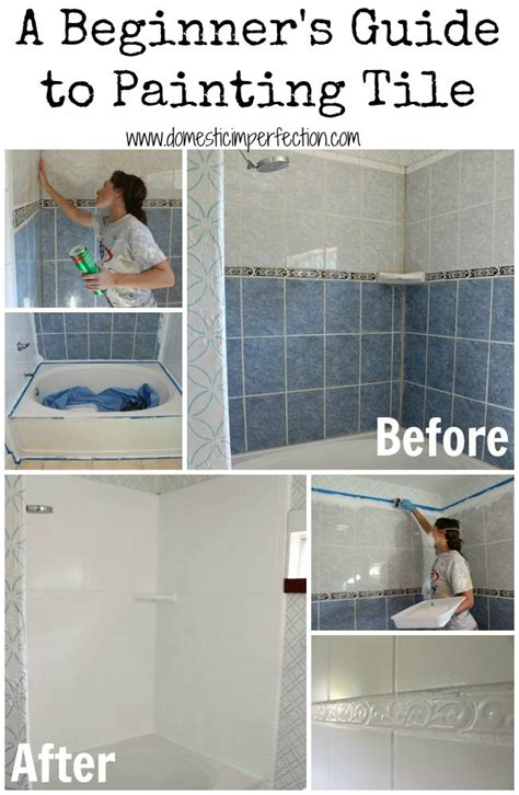 can you paint tile how to refinish outdated tile yes i painted my shower
