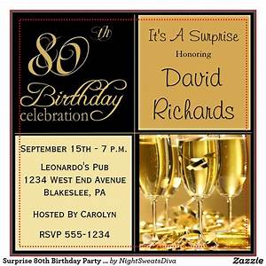 Birthday Invites: 80th Birthday Party Invitations Sample